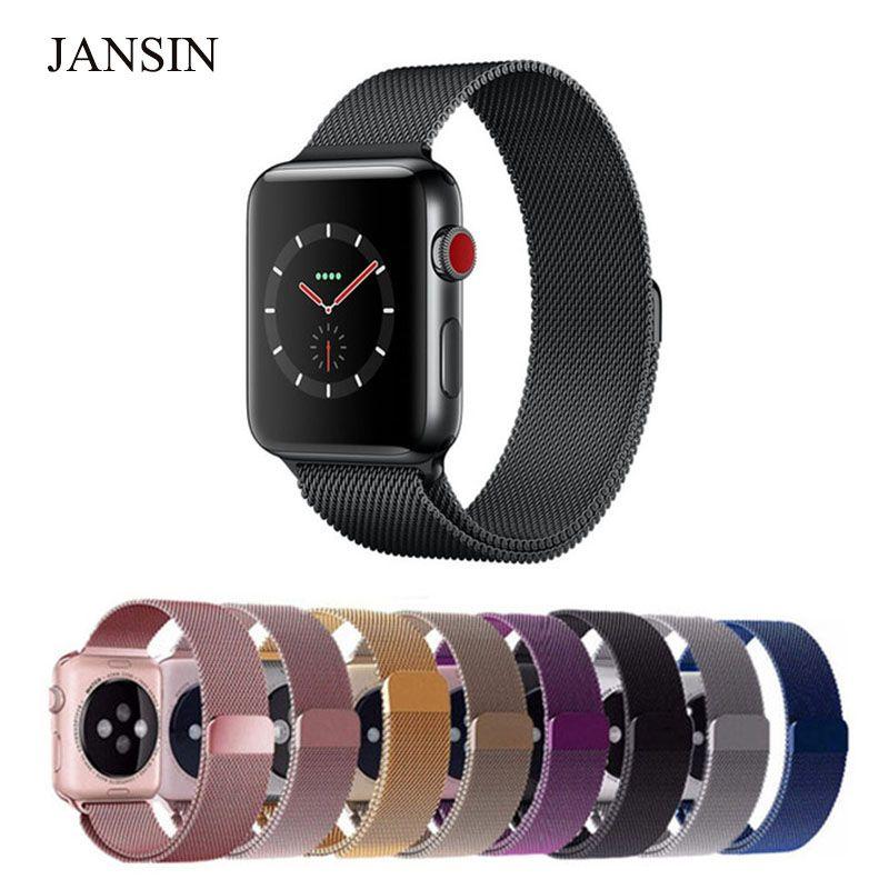 2667e86142e Comprar Faixa de Relógio Milanese Laço Para Apple 42mm 38mm Aço Inoxidável  Link Pulseira pulseira fivela magnética para iwatch 3 2 1