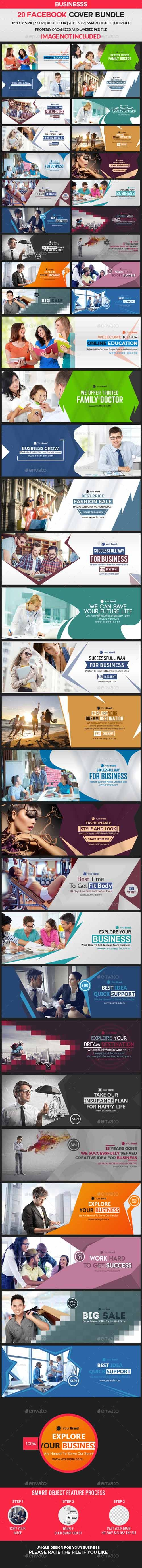 GraphicRiver Facebook Cover Bundle 20 Design 21324005 Free Download