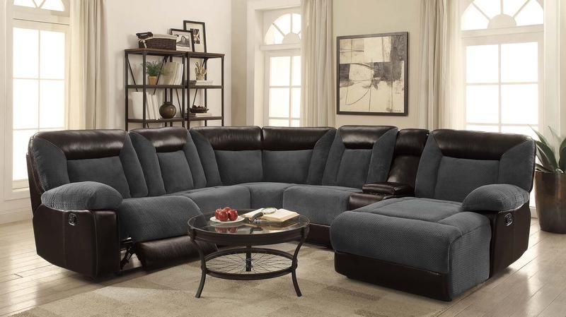 Awe Inspiring Furniture Of America Manchester Sectional Sofa Sectional Inzonedesignstudio Interior Chair Design Inzonedesignstudiocom