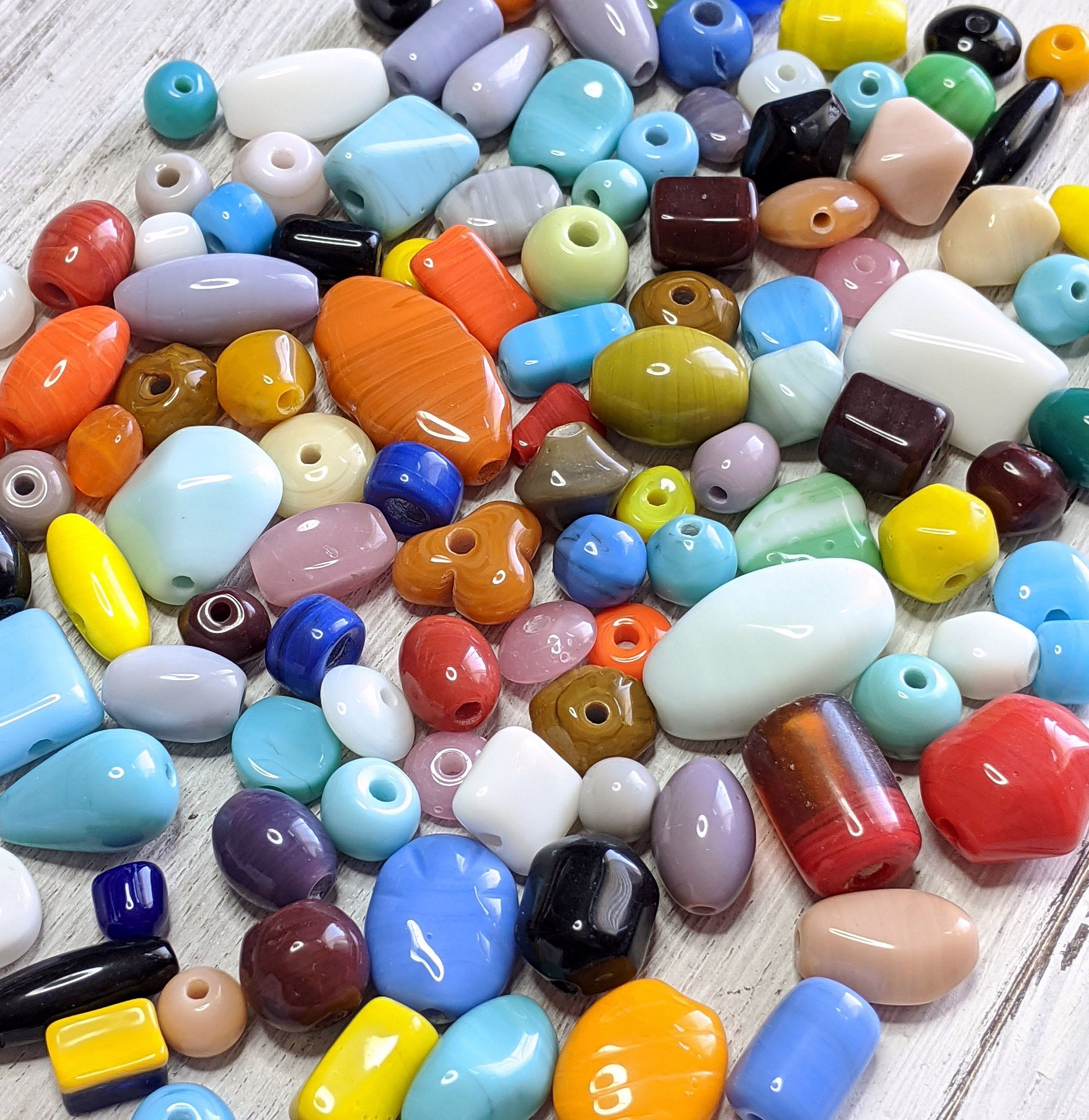 assorted colors shapes Glass Beads sizes