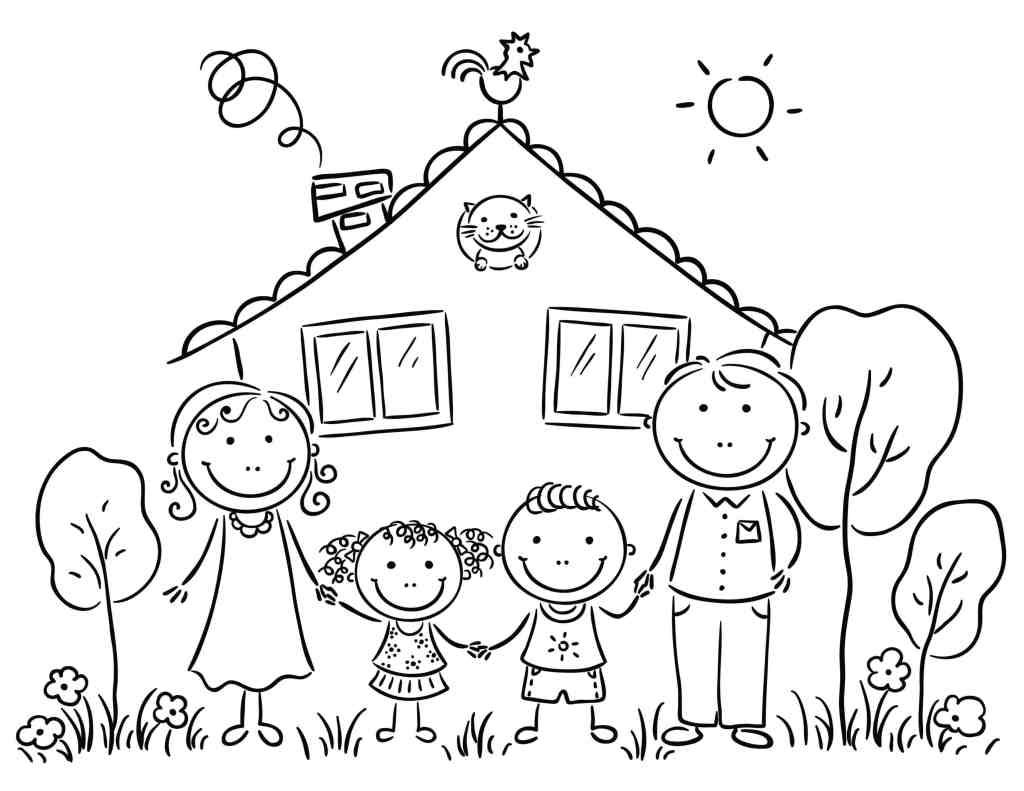 Family Coloring Pages For Preschoolers