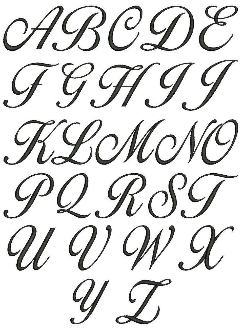 No 120 Lara Script 3 Letter Monogram Designs 1 5 Inch High Cursive Fonts Alphabet Cursive Calligraphy Tattoo Fonts Alphabet How to write your abc in cursive