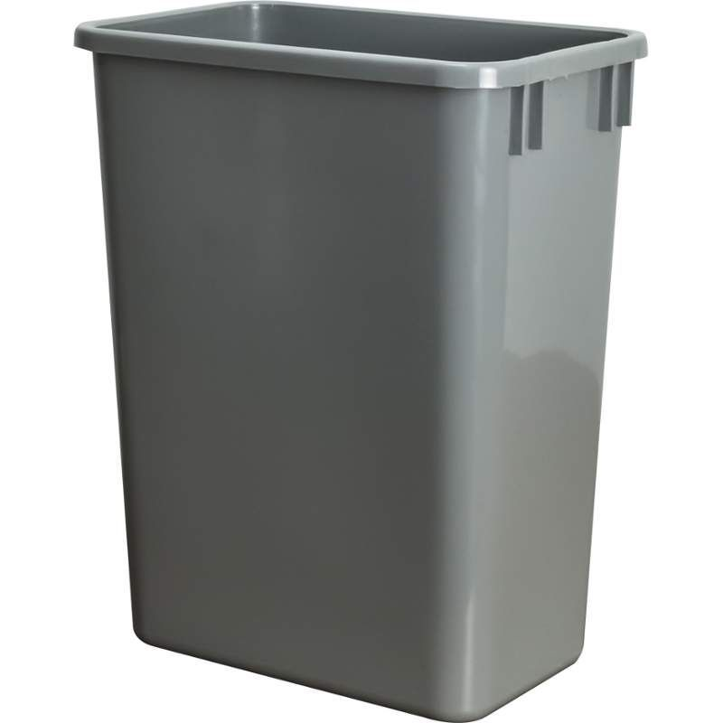 Hardware Resources CAN-35 35 Quart Polymer Waste Container Grey Trash Cans 1 Bin Free Standing