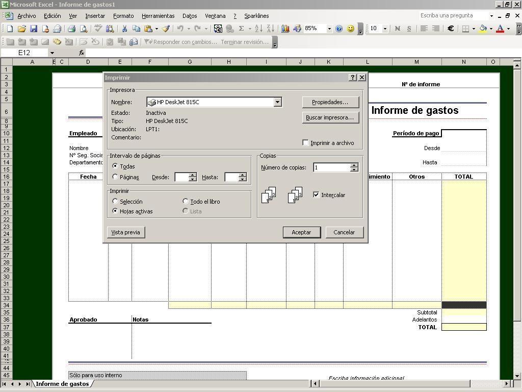 Vista preliminar de Excel hojas de cálculo #Contable http://blgs.co ...