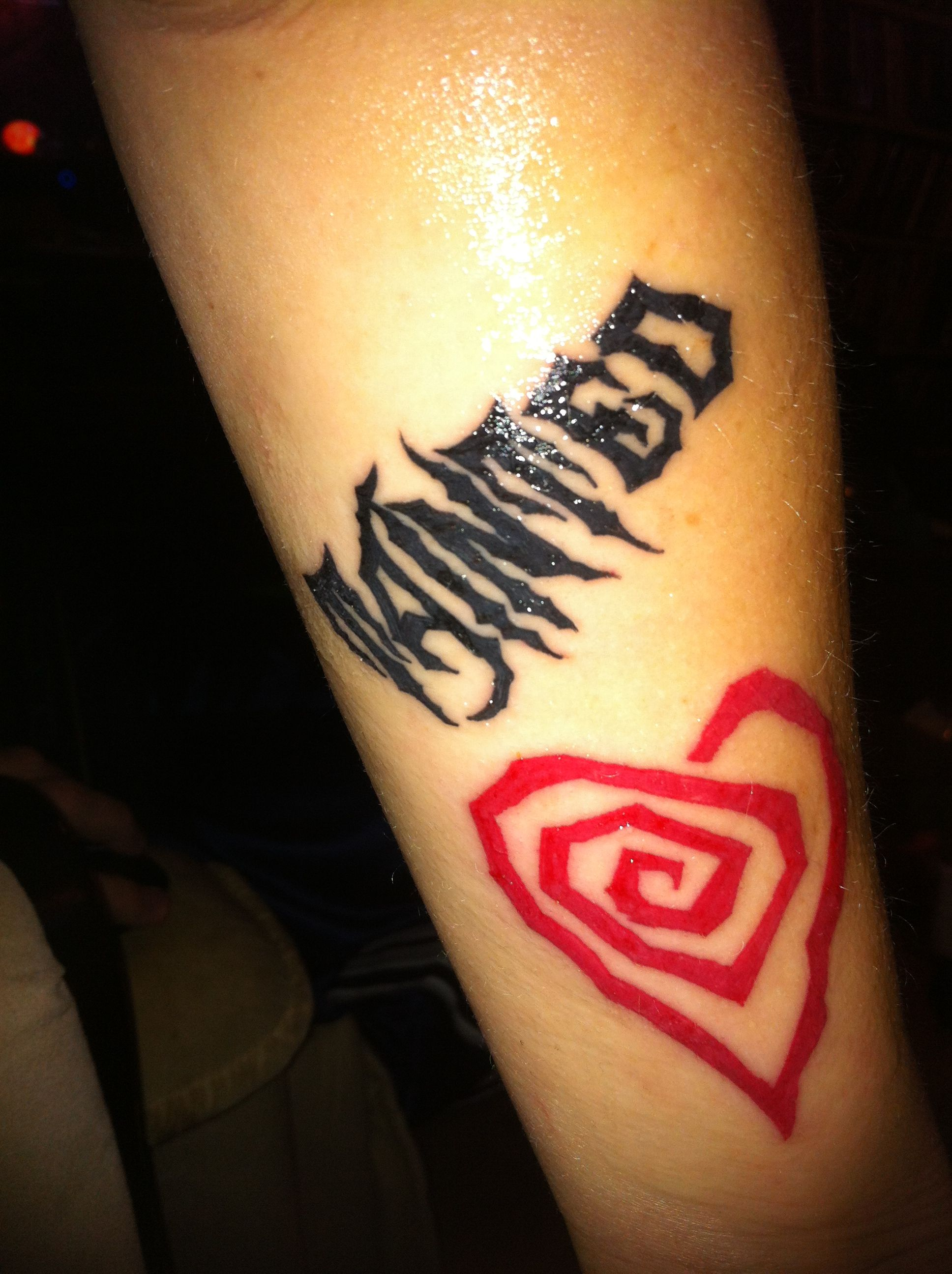 Marilyn Manson Heart Tattoo: Tainted Love!! Love This Song, Especially Marilyn Manson's