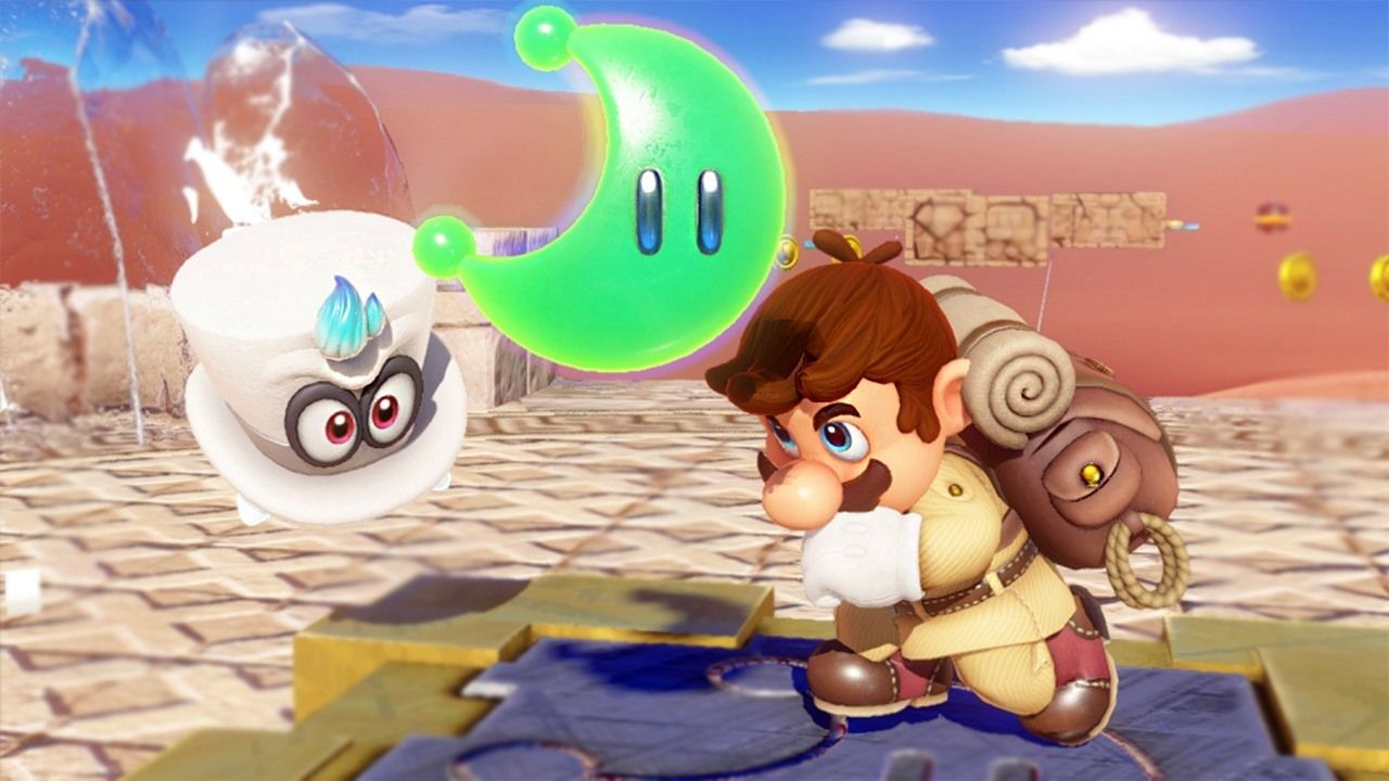 10 Awesome Ways We Found Moons In Super Mario Odyssey From Jumping Rope To Climbing A Tower In 2 D It Seems Like You Can T Walk Anywhe Super Mario Mario Amiibo