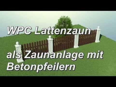Wpc Lattenzaun Zaunsystem Betonpfeiler Sockel Abdeckung Kugel Gartenzaun Zierzaun Zaun Bretterzaun Lattenzaun Zaun Gartenzaun
