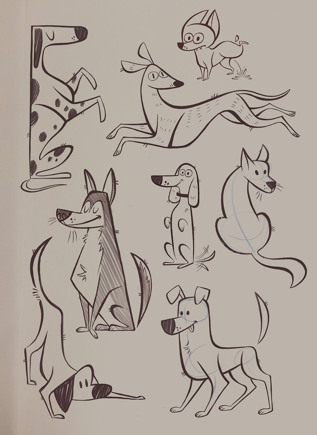 Trying To Improve On My Sketching Skills So Here Is A Collection Of Doodles That I Will Be Updating Cartoon Character Design Cartoon Drawings Animal Drawings
