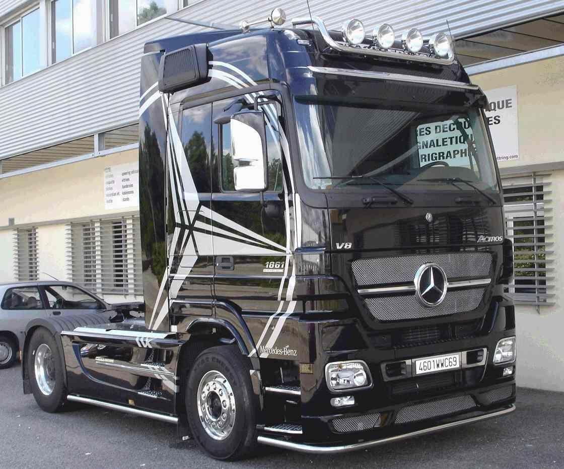 Mercedes Actros Black Edition Camion Mercedes Voiture Mercedes