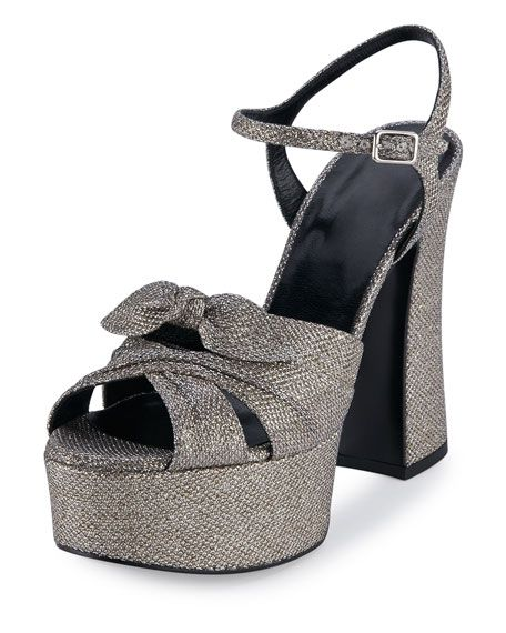 5c09952657b SAINT LAURENT Candy Metallic Jacquard Platform Sandal.  saintlaurent  shoes   sandals