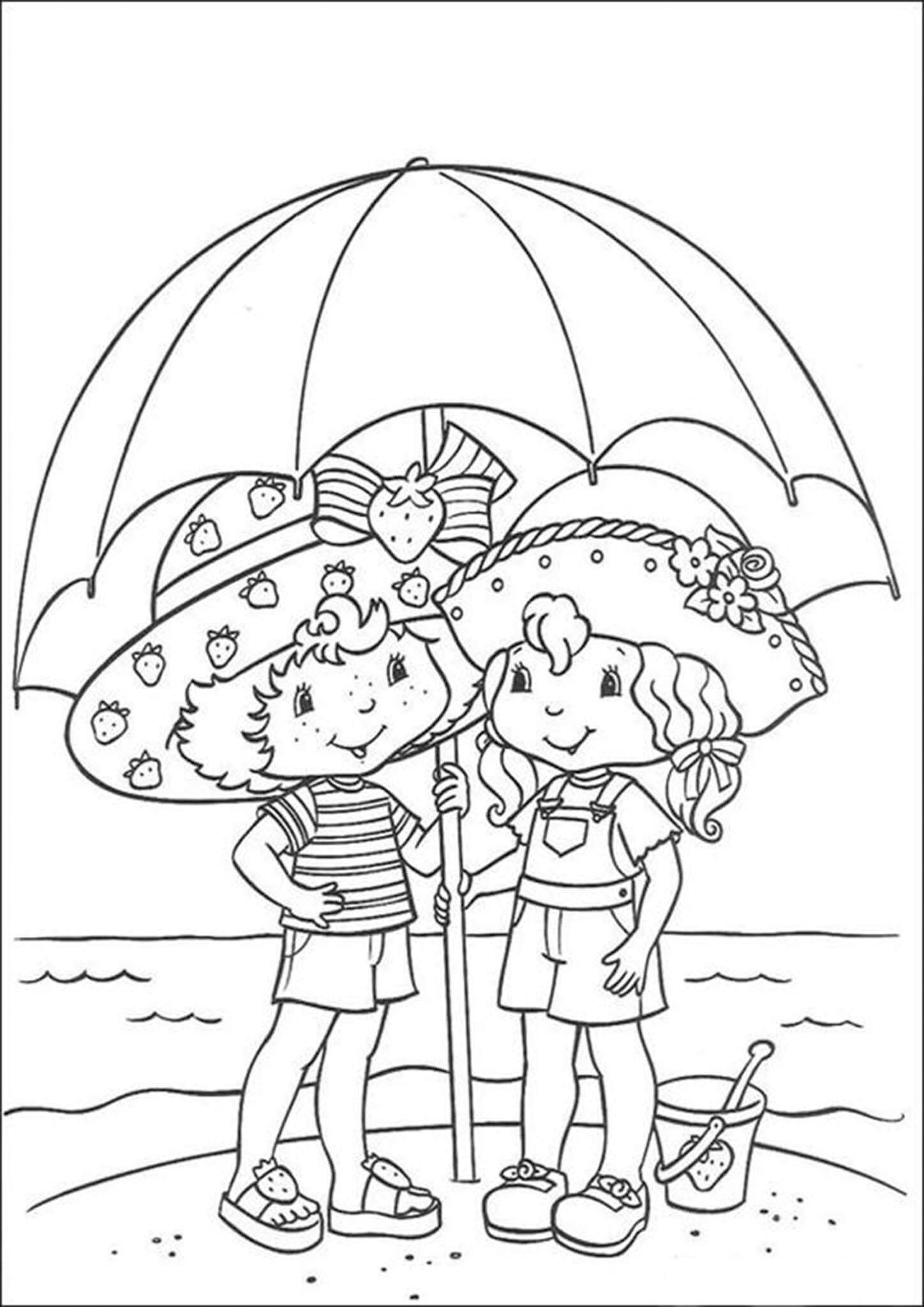 Free Amp Easy To Print Strawberry Shortcake Coloring Pages