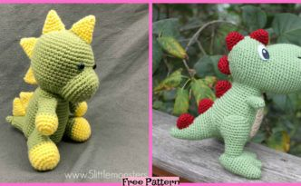 Crochet Dinosaur Softie - Free Patterns #crochetdinosaurpatterns