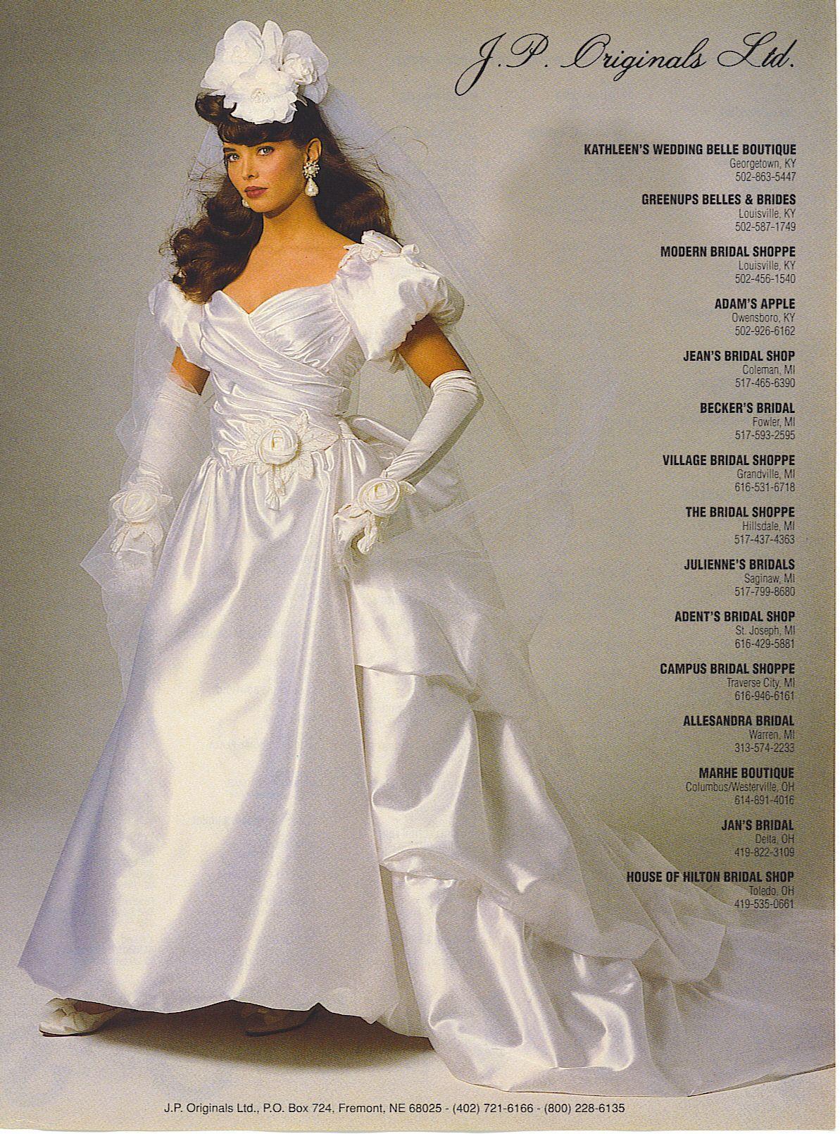 Pin von n loren auf 80\'S AND 90\'S BRIDAL WEDDING FASHION | Pinterest ...