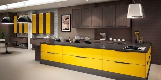 dunkles-holz-gelben-küche Home ideas Pinterest Kitchens and Spaces - wandverkleidung für küchen