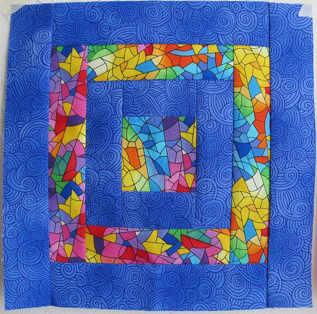 March Block 2 for Quilting Under the Rainbow by Annamal Quilts, via Flickr