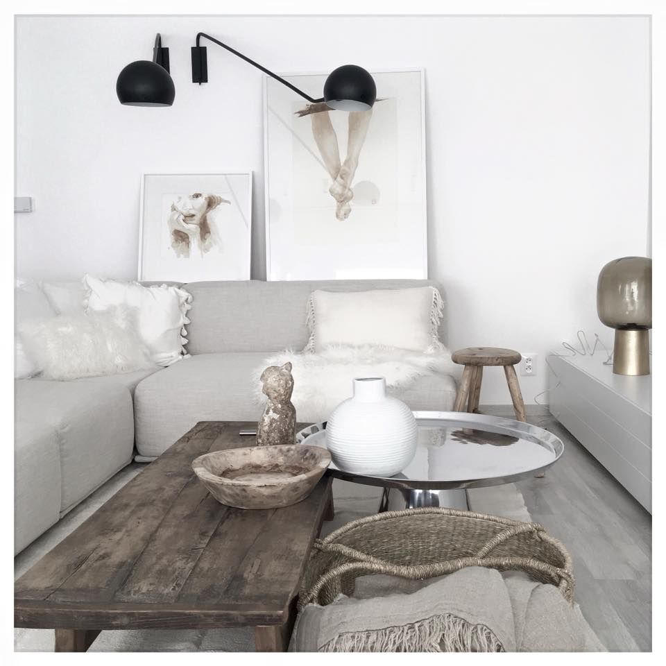 The Couch And Floor Are Very Similar In Color They Are Both Light Enough To Blend With The White Wall Living Room Harmony House Home Decor [ 960 x 960 Pixel ]