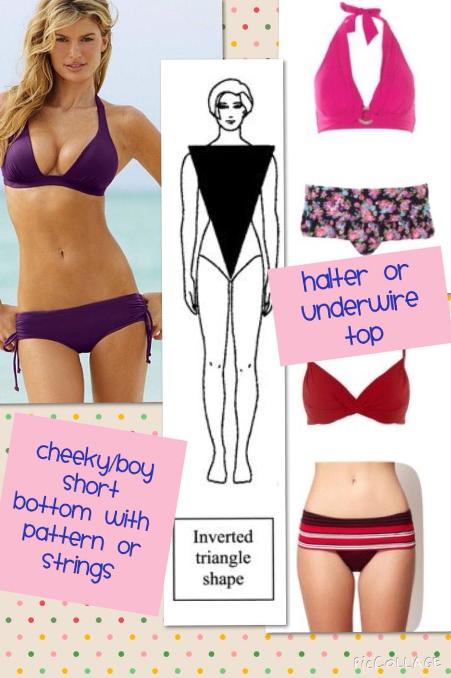 Inverted Triangle Or A Body Shape Bikinis Inverted Triangle Body