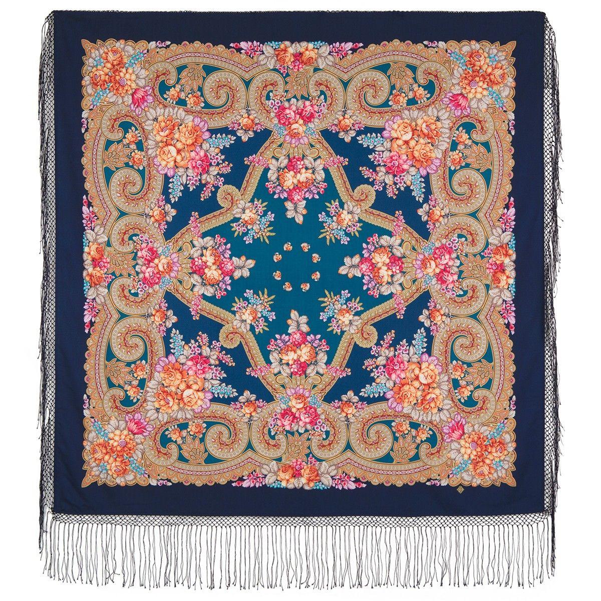 платок цветы под снегом 18
