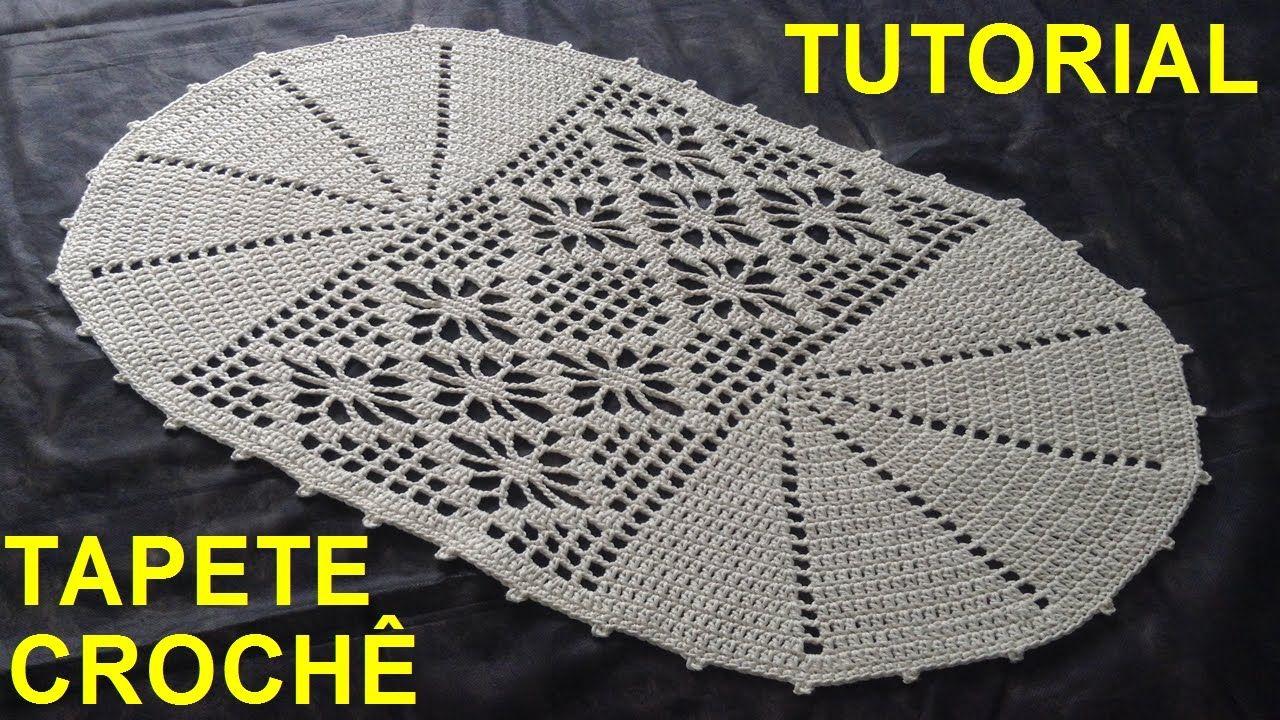 Tapete De Croch N 2 Edi O Atualizada Luizadelugh Croche  -> Tapete De Barbante Com Luiza De Lugh