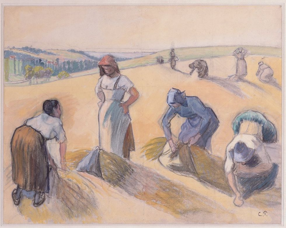 The Gleaners.c.1889 by Camille Pissarro