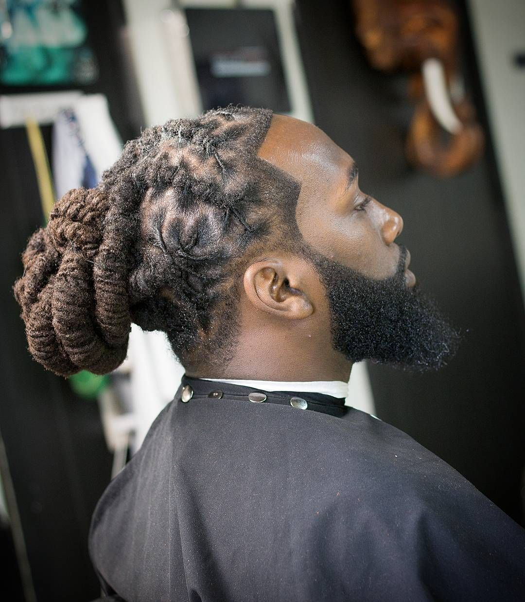 Long sculpture hairstyles for black man dreadlock