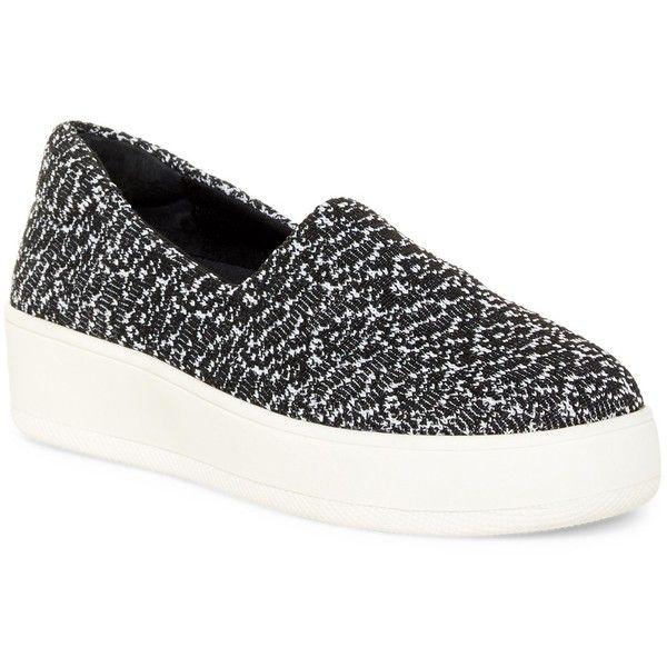 Carven Black Tex Platform Slip-On Sneakers NB6XJ