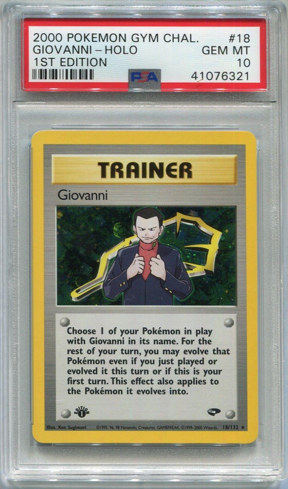 pokemon card 1st edition giovanni holo gym challenge 18