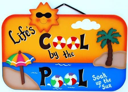 outdoor pool sign lifeu0027s cool by the pool by - Pool Signs