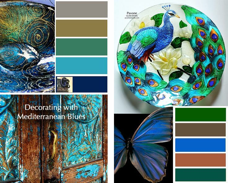 Tuscan Color Wheel Tuscan Decorating With Mediterranean Blues