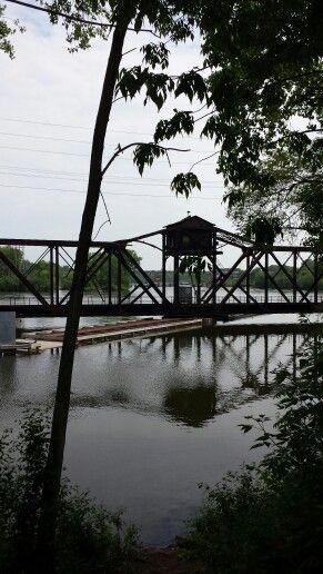 Train trestle, Fox river, Appleton, Wi. Appleton, New