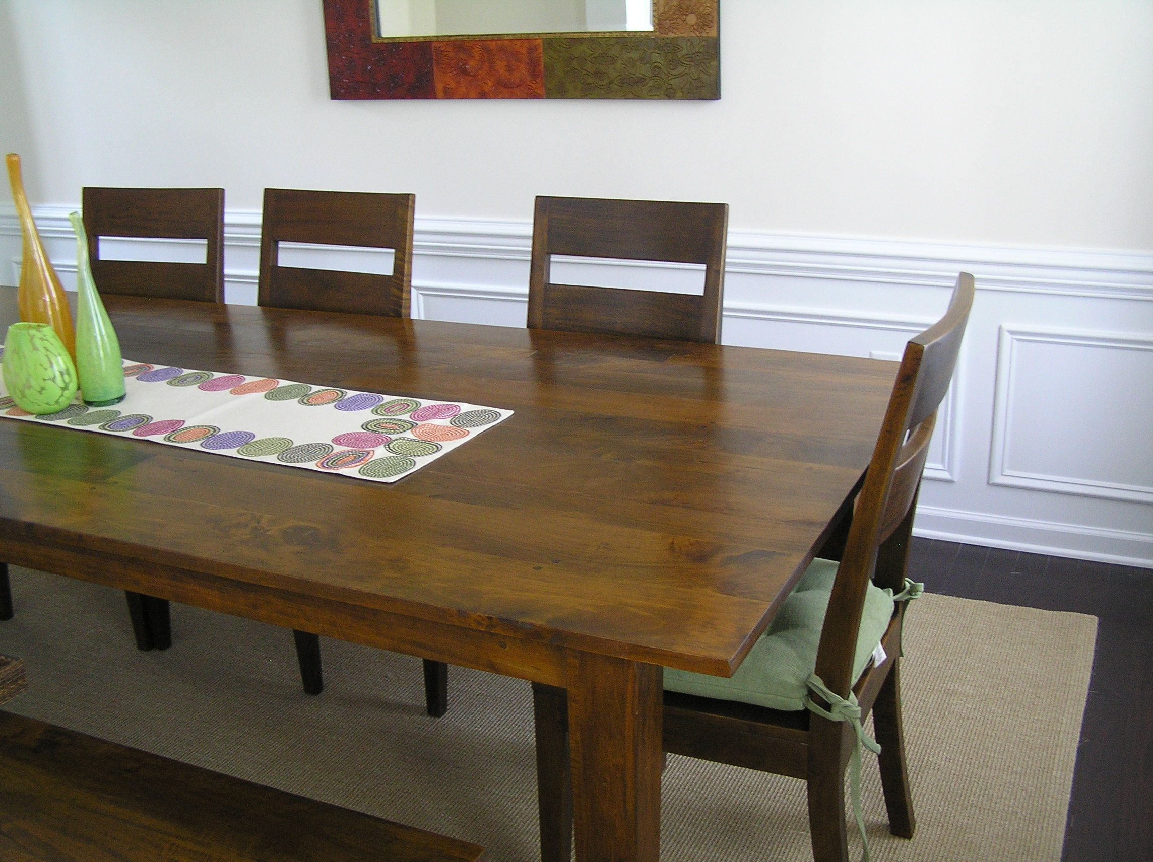 Crate and barrel basque honey dining set