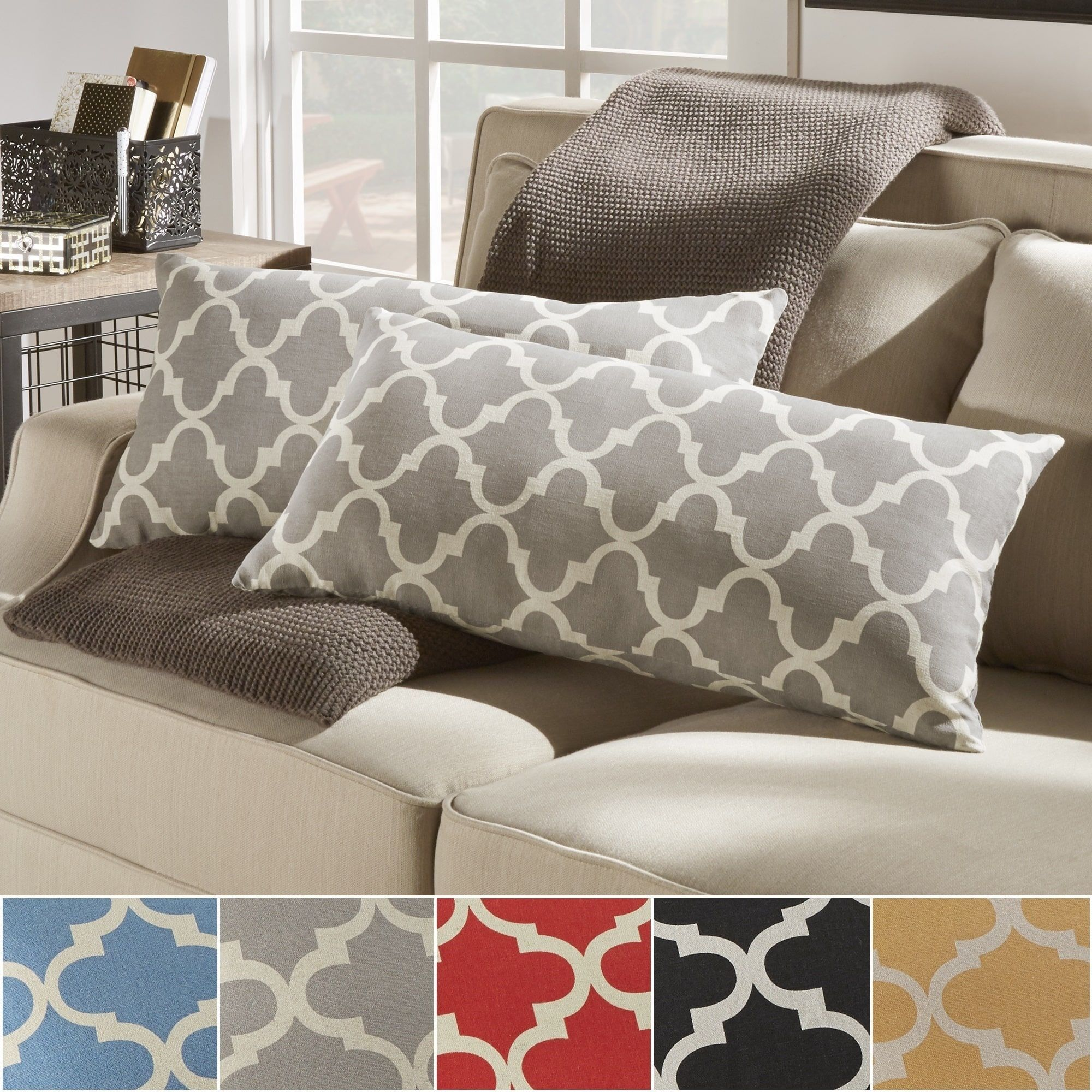 Montvale Moroccan Pattern Toss Kidney Pillow by Inspire Q