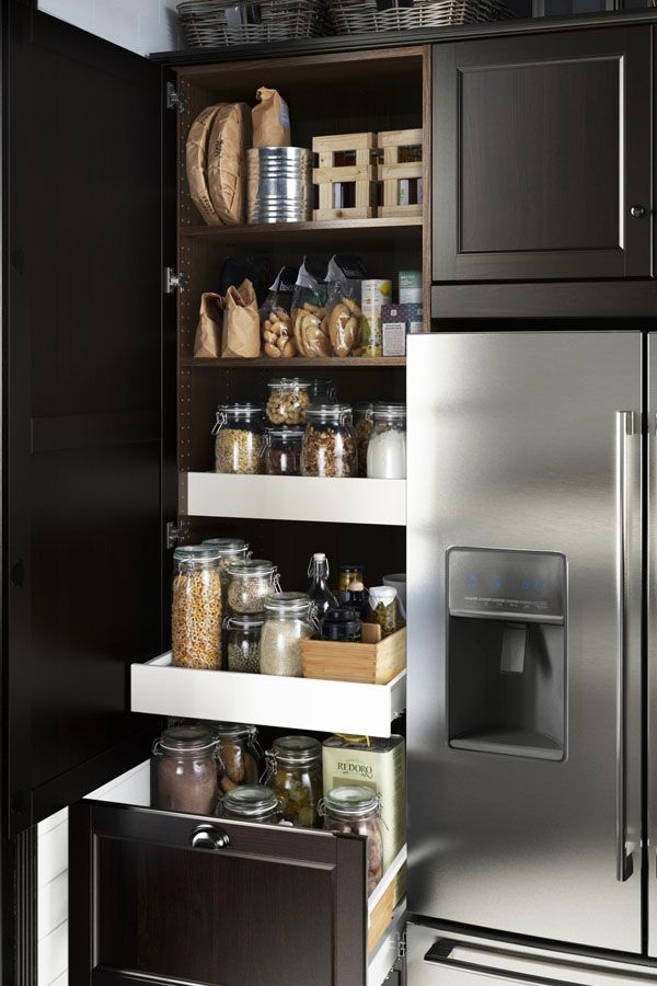 Plenty of storage in your cabinets helps to keep the clutter at - ordnung im küchenschrank