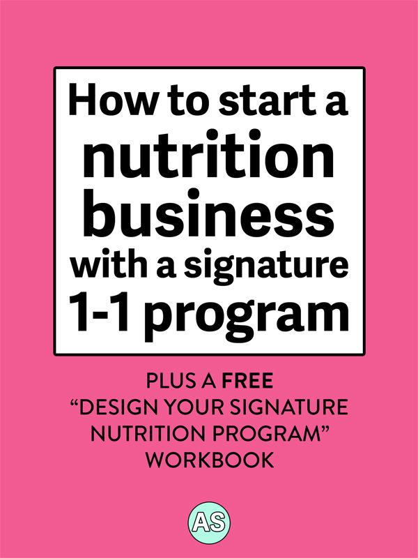 How To Start A Nutrition Business With A Signature One On One