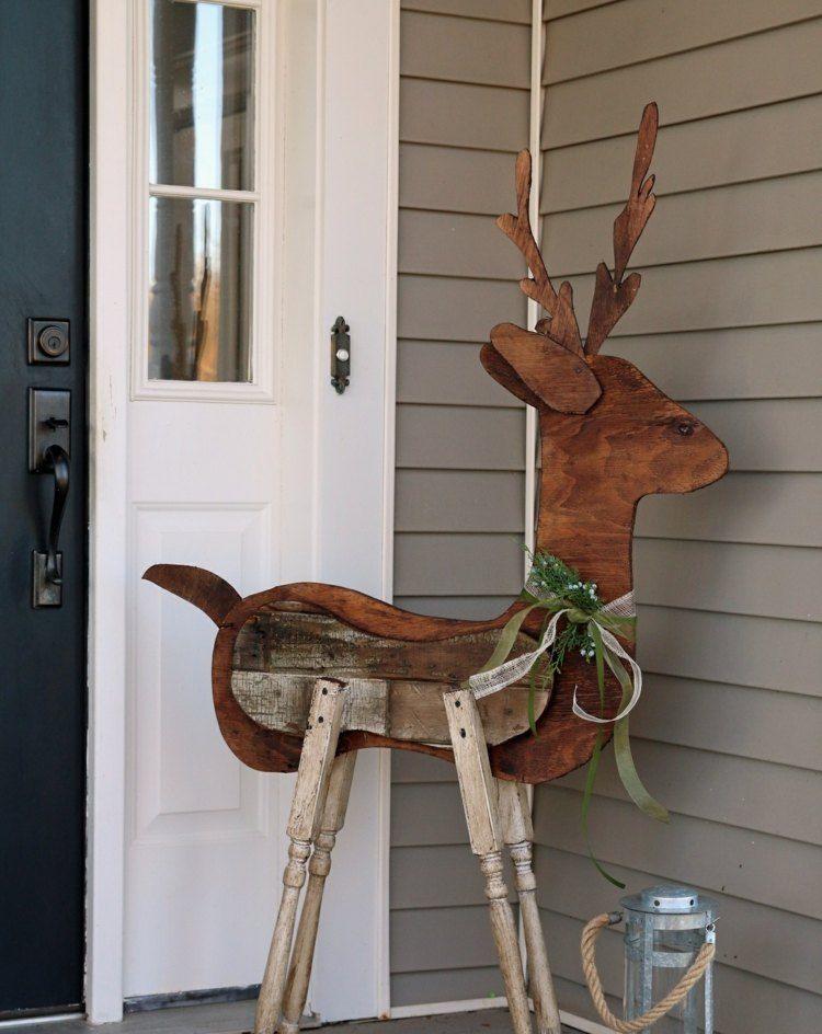 Bricolage De Noël En Bois De Récupération 20 Projets Faciles Pour