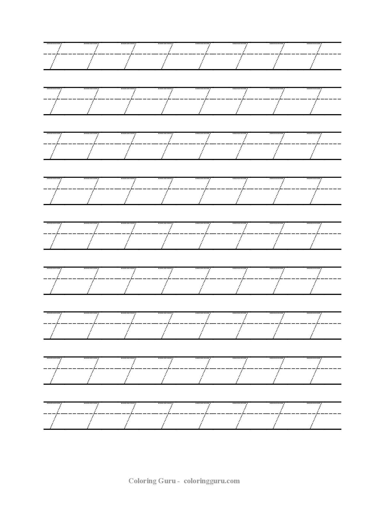 Free Printable Tracing Number 7 Worksheets Kids Math Worksheets Preschool Worksheets Preschool Number Worksheets