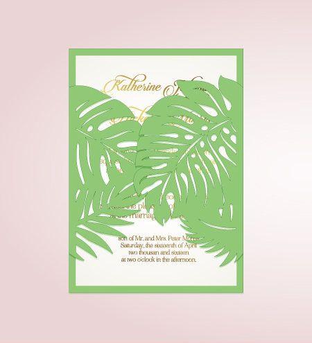 Tropical wedding invitation template ai eps pdf cdr svg studio tropical wedding invitation template ai eps pdf cdr svg studio dxf palm leaves cutting file paradise foliage stopboris Image collections