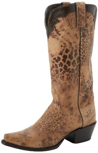 ed841934170 Amazon.com: Nocona Boots Women's Distressed Leopard Boot: Shoes | My ...