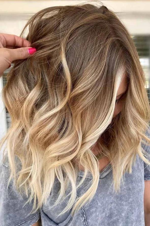 2020 Fashion Ombre Blonde Wigs Blonde Beach Wave Wig 2020 Sac