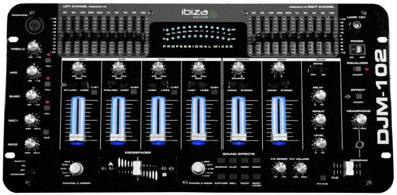 Location Table de mixage IBIZA DJM 102 Orléans (45000) Table de mixage IBIZA DJM 102 louée avec flycase