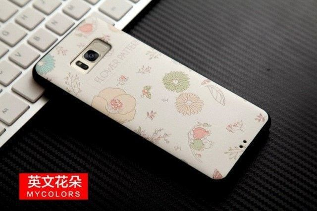 For Samsung Galaxy S8 3D Stereo Relief Painting Back Covers