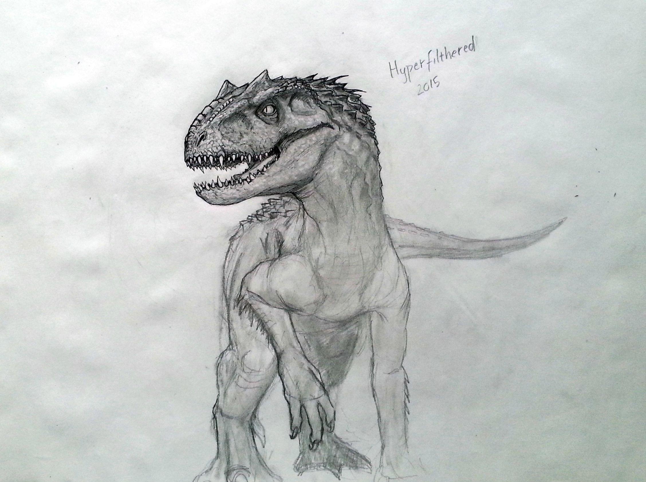 Indominus Rex Google Search Dessin Dinosaure Croquis