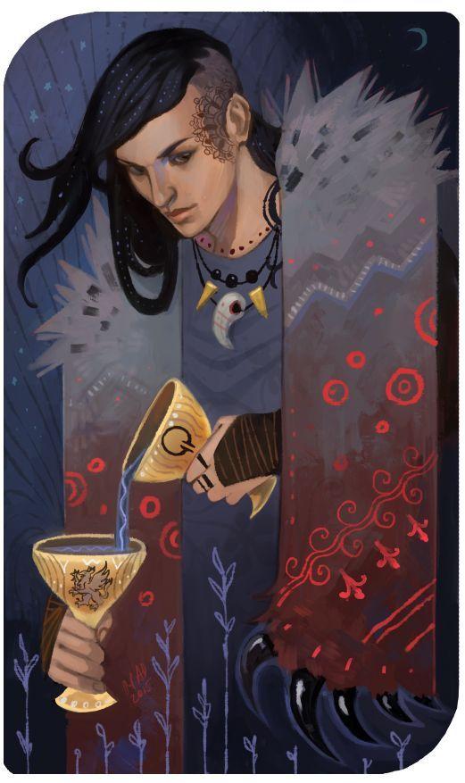Epingle Par Cahethel Sur Dragon Age Inquisition Tarot Art De