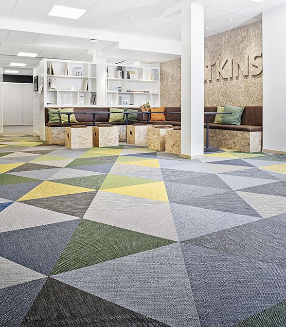 Bolon Flooring In The Office Of Atkins In J 246 Nk 246 Ping