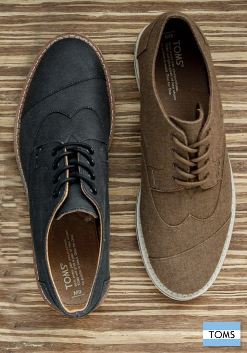 84661b11a9d TOMS Men s Brogues will easily take your style from day to night ...