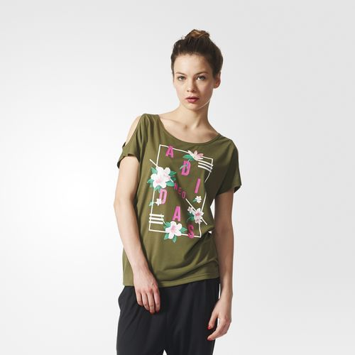 T-shirt Flower Print - Marrone