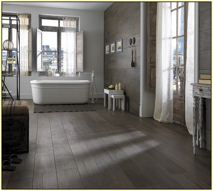 grey porcelain tile that looks like wood