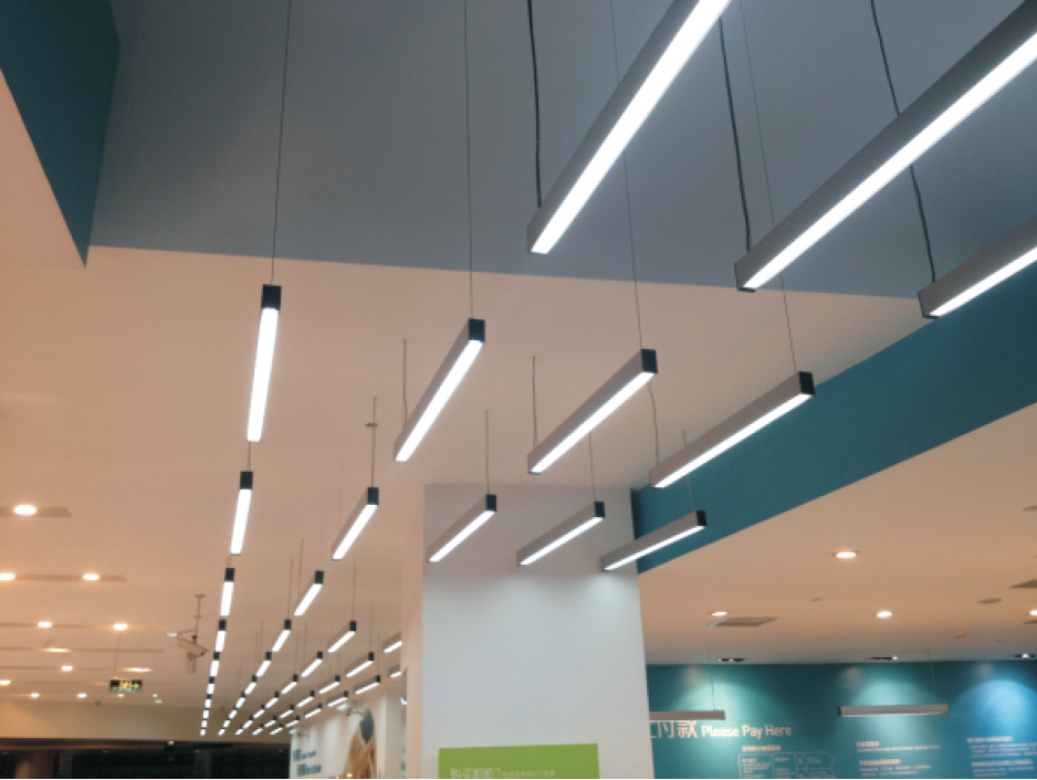 suspended led linear lighting stl137