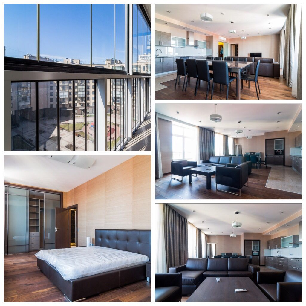 Modern Style 6-room Apartment With A Balcony For Rent In