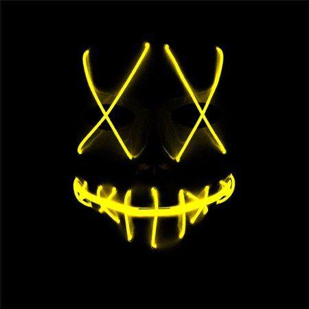 Tagital Halloween Mask LED Light Up Funny Masks The Purge Movie Scary Festival Costume